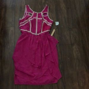 Pink dress with beige outline size 10 dress